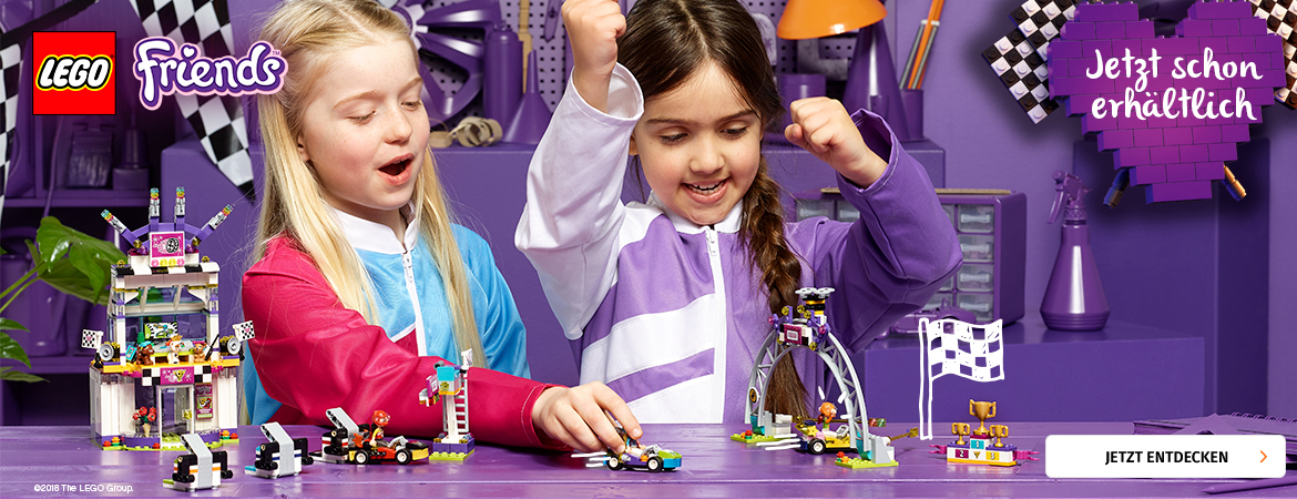 Prelaunch Lego Friends Racing bei Müller